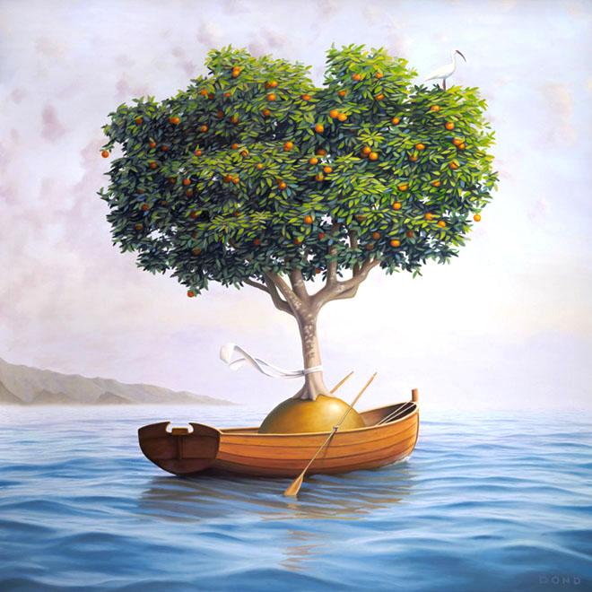 surreal oil painting dream stones paul david bond beautiful creative mind blowing surrealism surrealistic