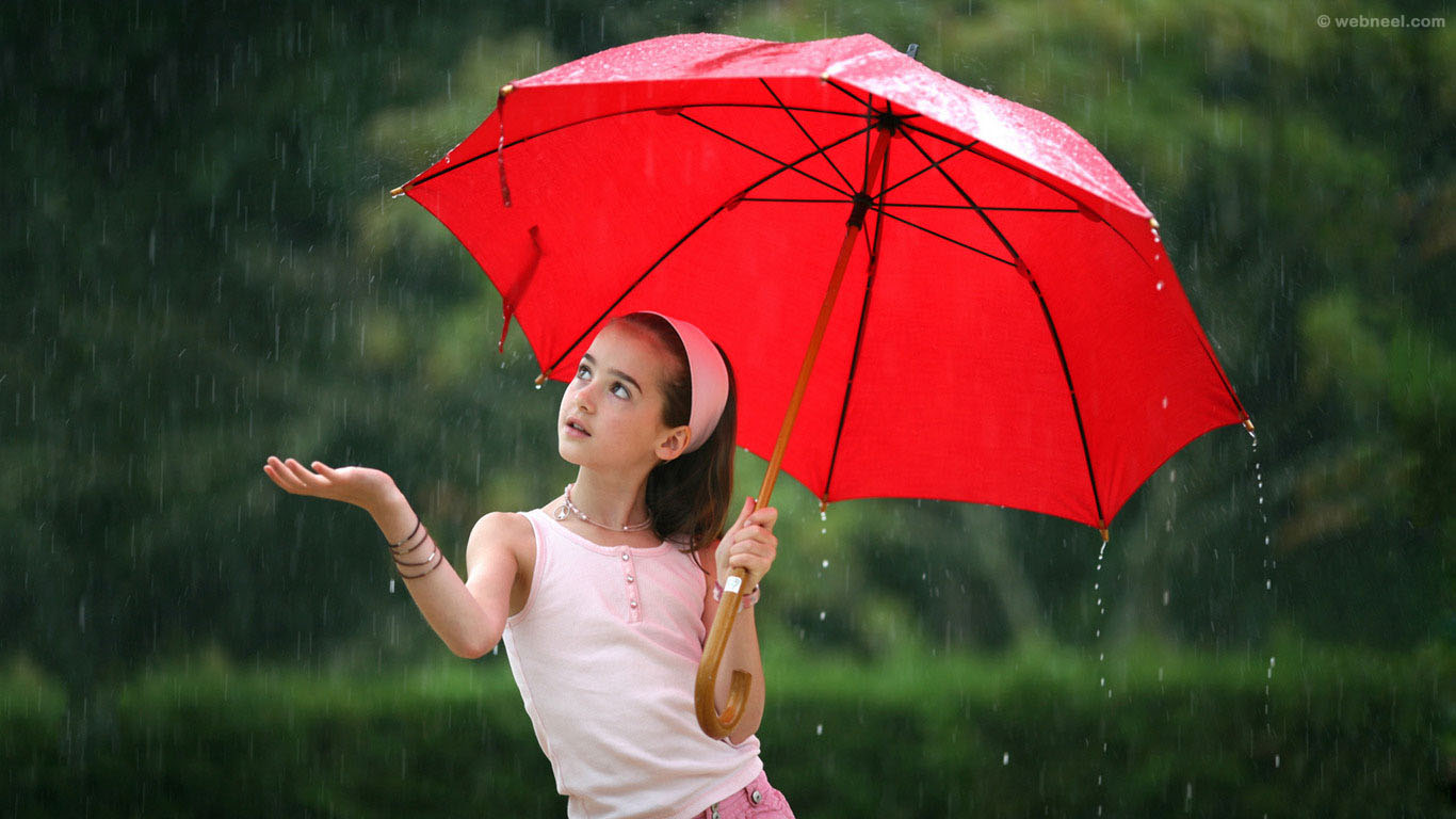 rain wallpaper girl