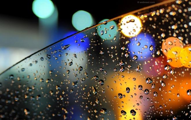 rain wallpaper night car