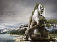 1-woman-photo-manipulation-stone-sculpture