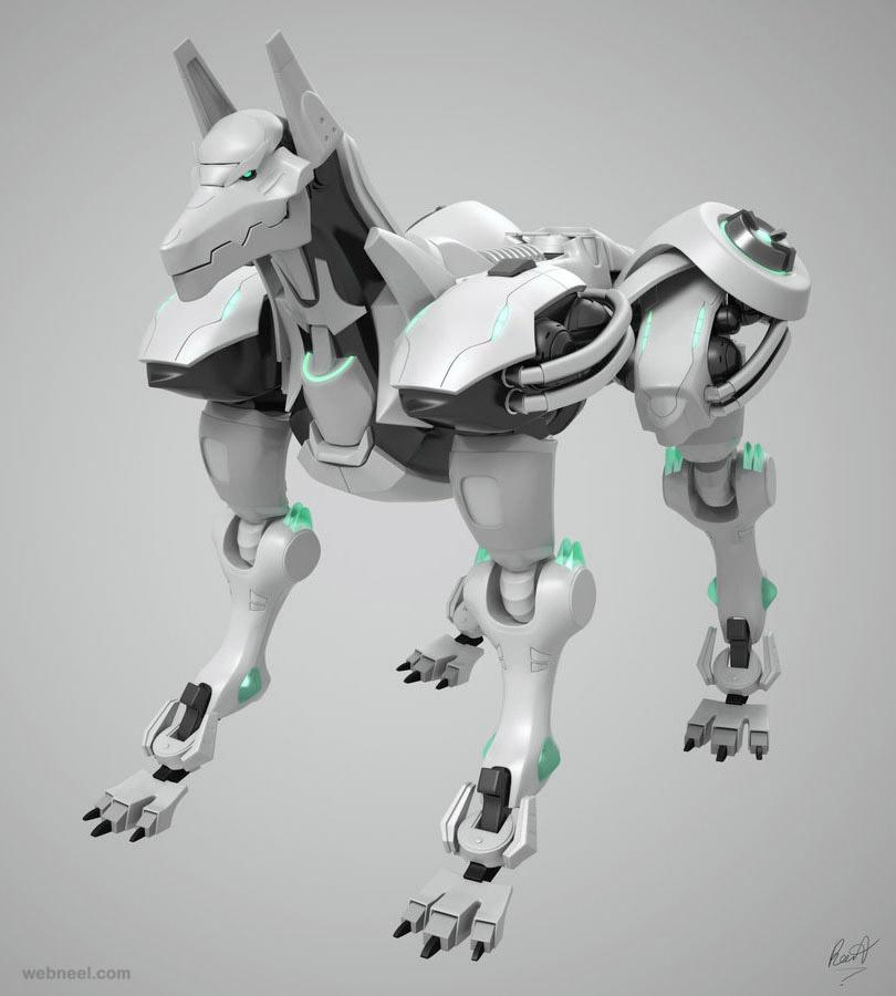 3d dog robot