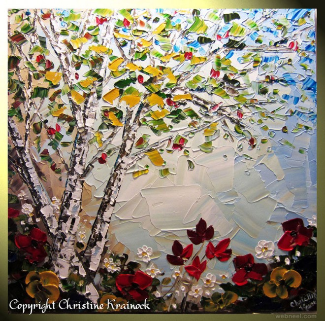 palette knife paintings