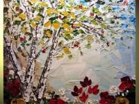 17-autumn-gold-flower-palette-knife-paintings