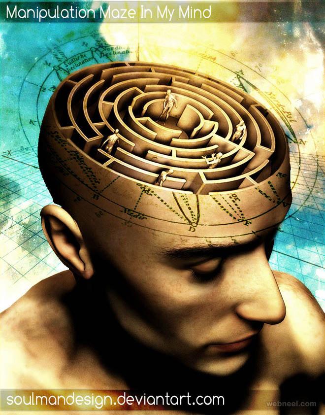 photo manipulation maze brain