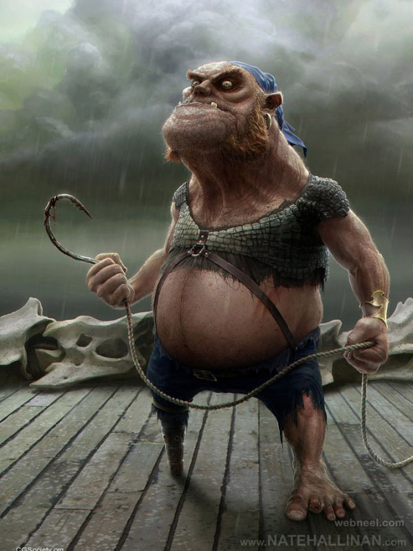 3d character design by nate  hallinan