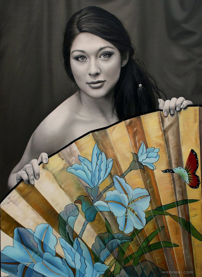 realistic oil painting