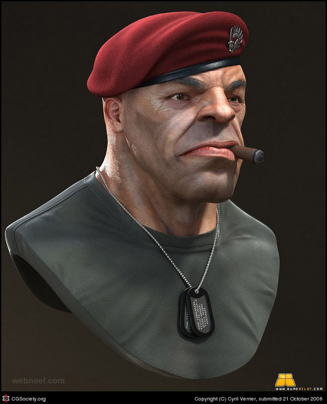 3d character design by cyril verrier