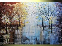 8-rain-city-park-lights-winter-palette-knife-paintings