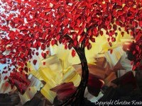 9-red-tree-landscapes-palette-knife-paintings