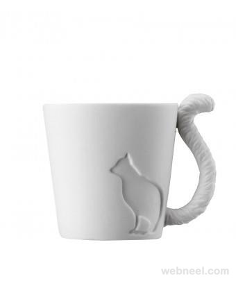 Amazing Coffee Cup design Creative product model cat