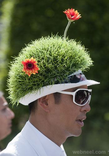 Awesome garden hat Creative green cap design