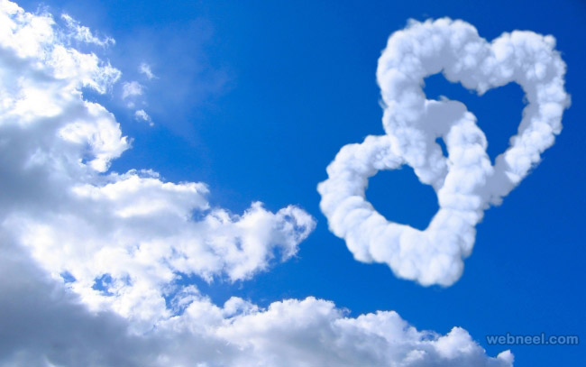 Love Clouds Beautiful photo manipulation nature