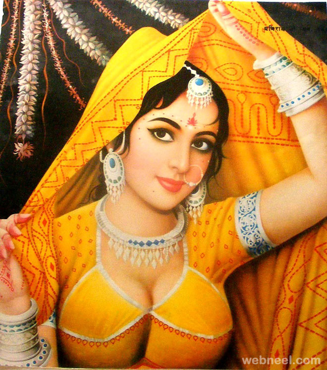 indian paintings woman 12 - preview
