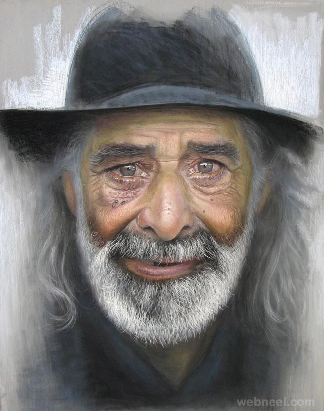 hyper realistic pastel paintings