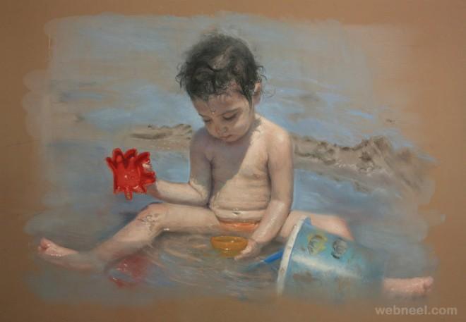 pastel paintings kids