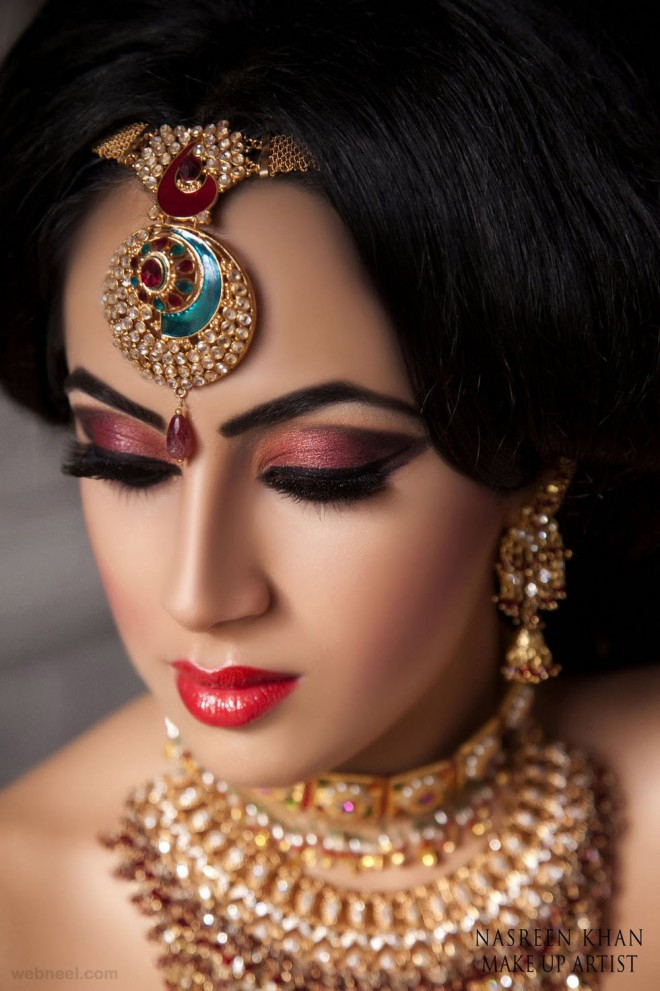 Traditional Bridal Makeup Looks : 30 Most Beautiful Indian Wedding Photography examples