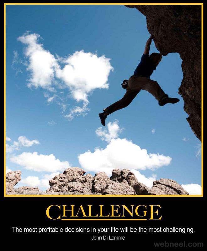 Rock Climbing Motivational Poster