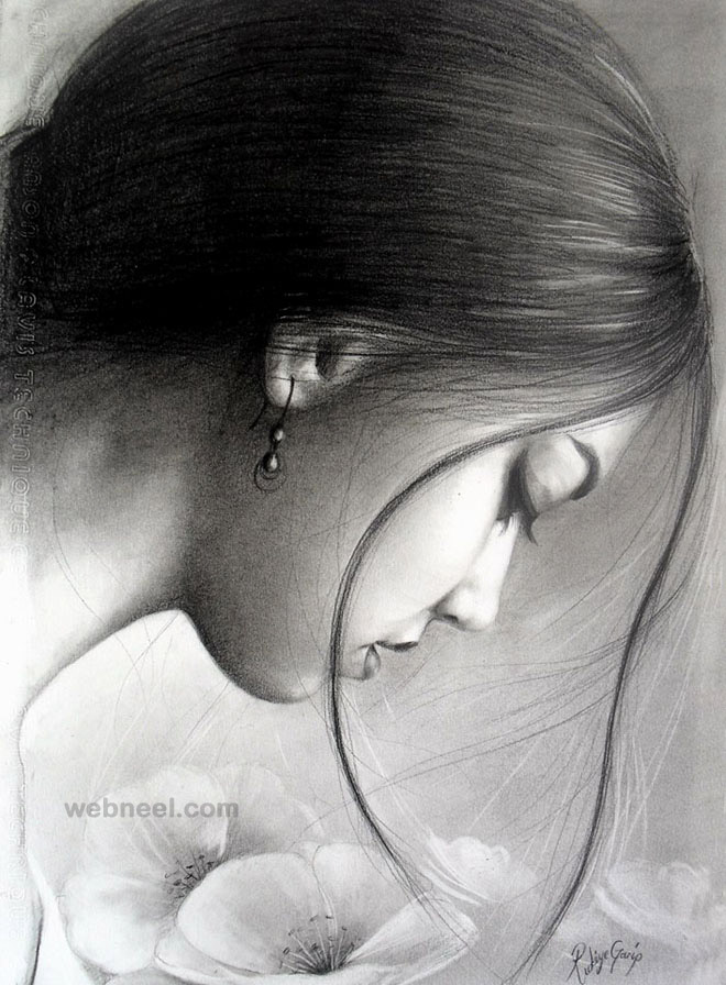 charcoal drawing rukiye