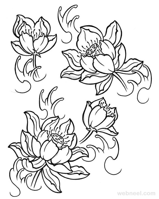 flower drawing 30