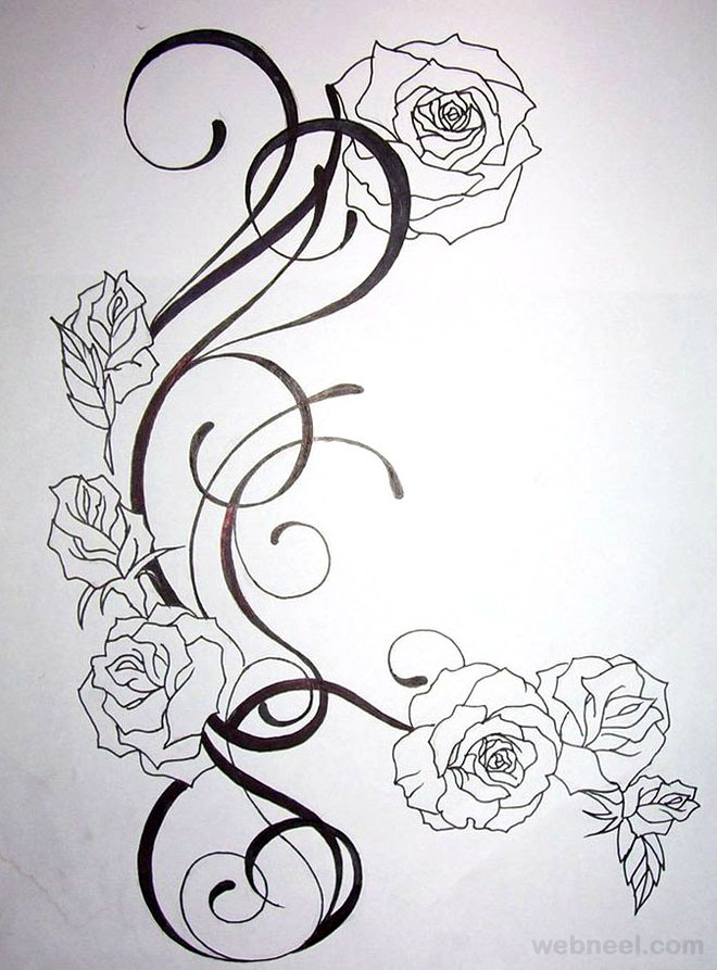 drawings of flowers 31