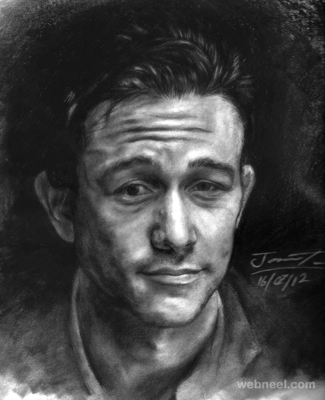 charcoal drawing gordon