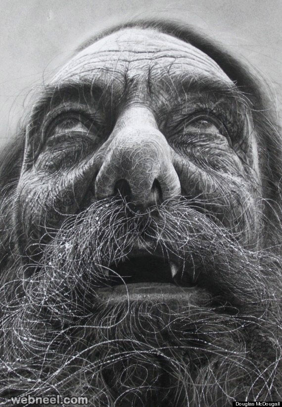 charcoal drawing douglas