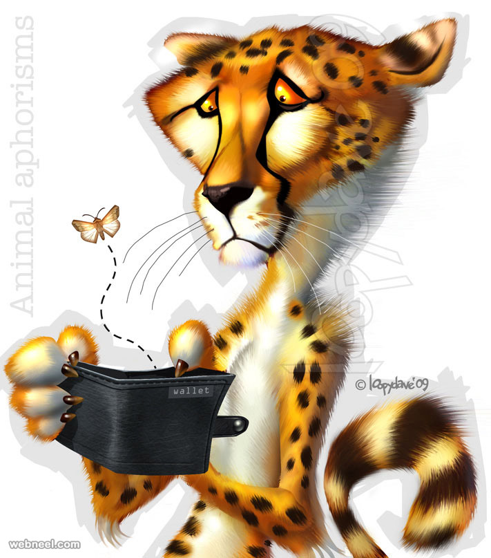 tiger digital paintings loopy dave