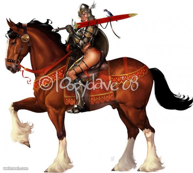horse digital paintings loopy dave