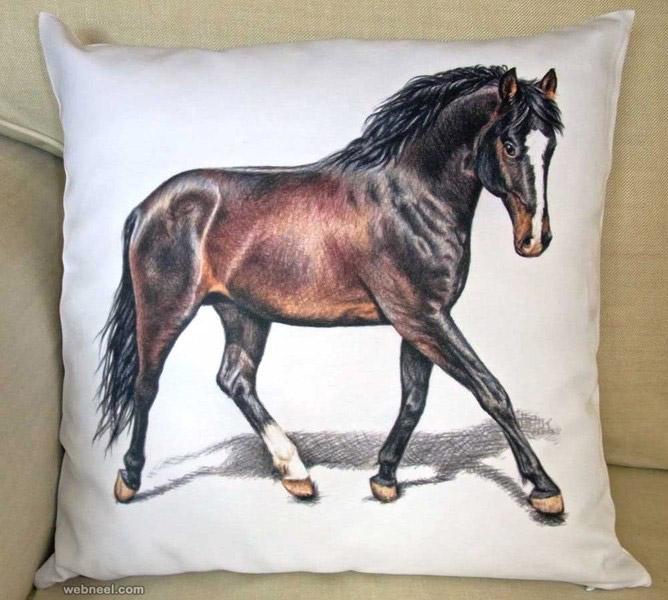 horse animal drawing nicolezeug
