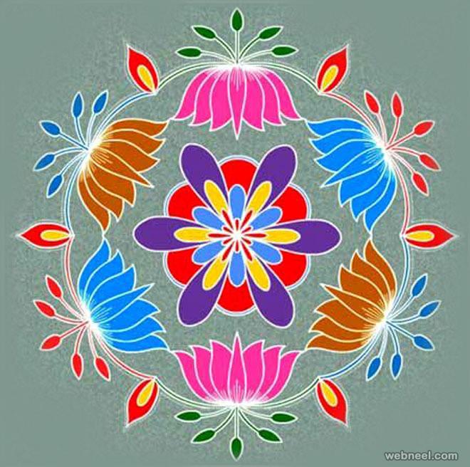 pongal rangoli design