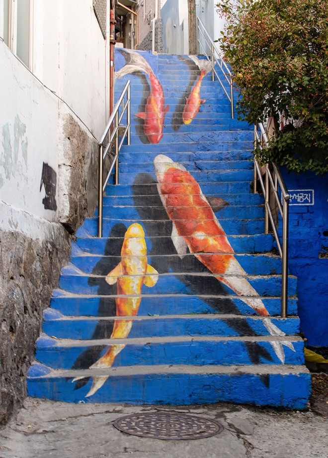 3 staircase art