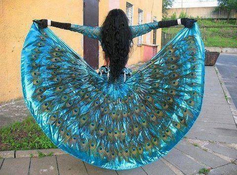 peacock dress idea