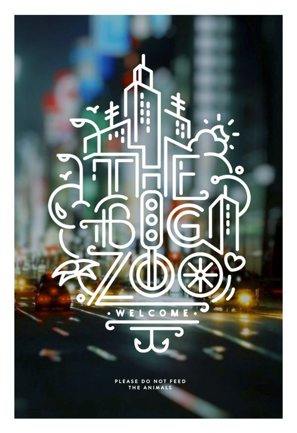 typography designs zoo poster design