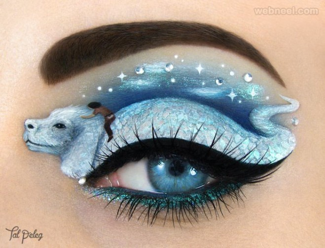 silver lion eye makeup art
