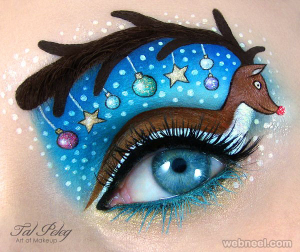 reindeer eye makeup art