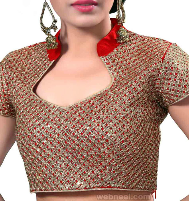 Blouse Neck Design With Collar 3