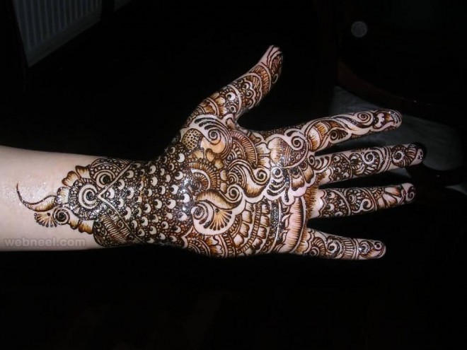 mehndi design peacock