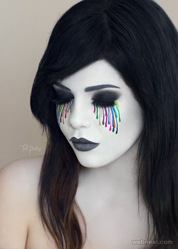 rainbow tears eye makeup art