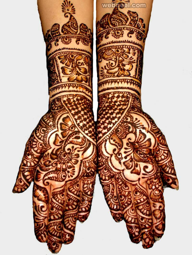 mehndi design red
