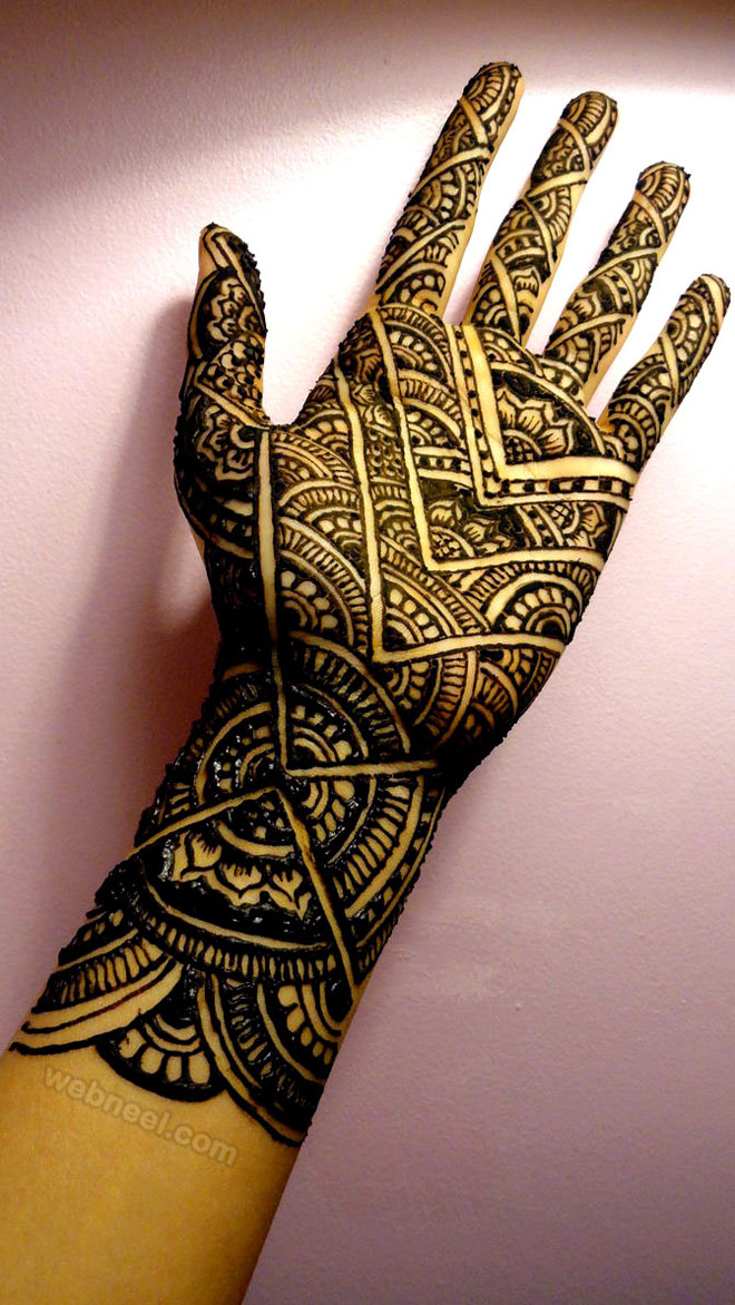 mehndi design sunrise