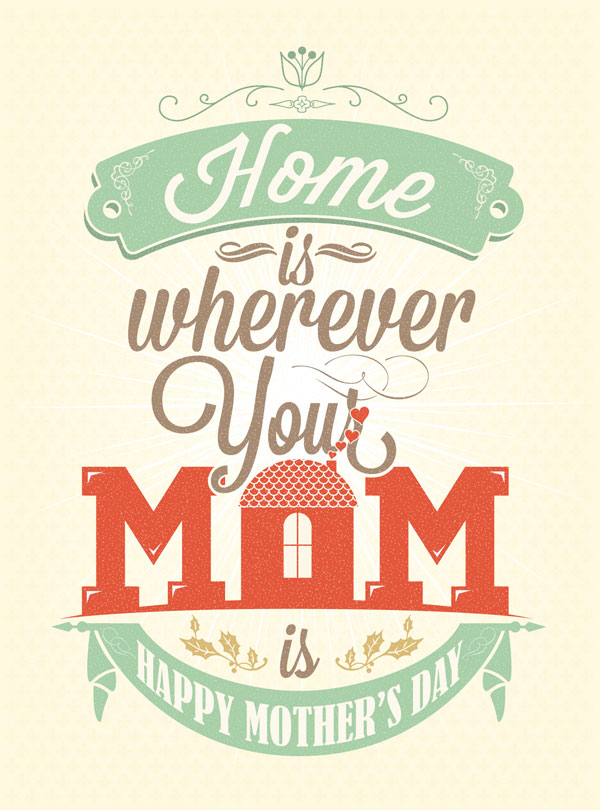 happy mothers day typography designs