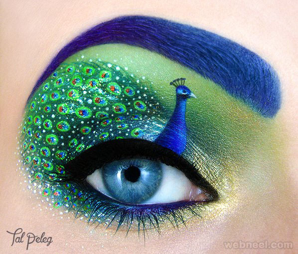 peacock eye makeup idea