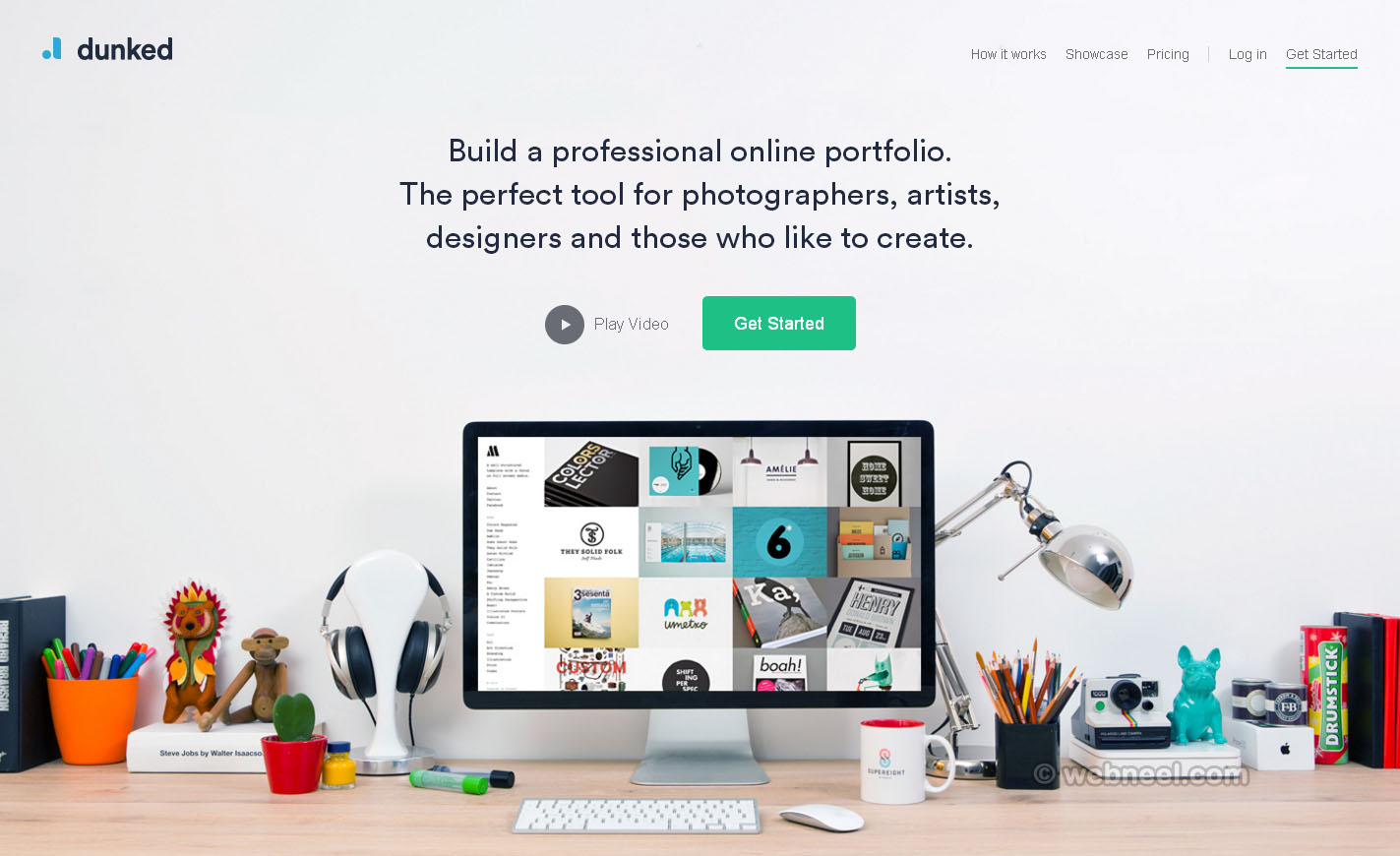 beautiful website design dunked free portfolio