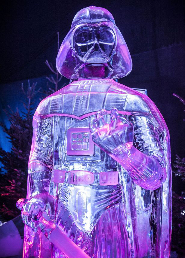 star wars ice sculpture festival