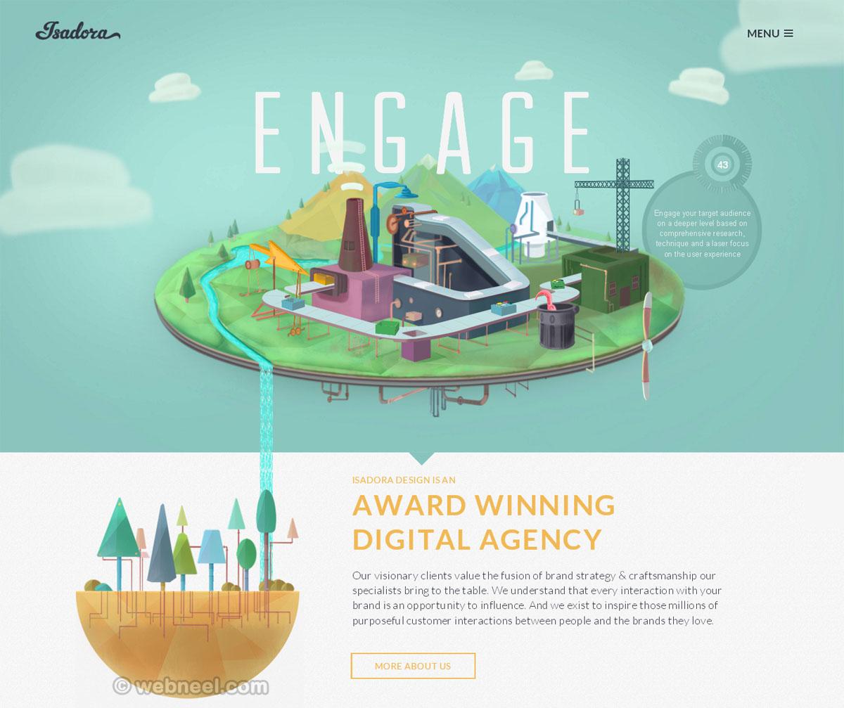beautiful website design isadoradesign