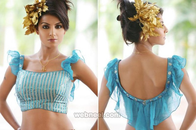 designer neck blouse design