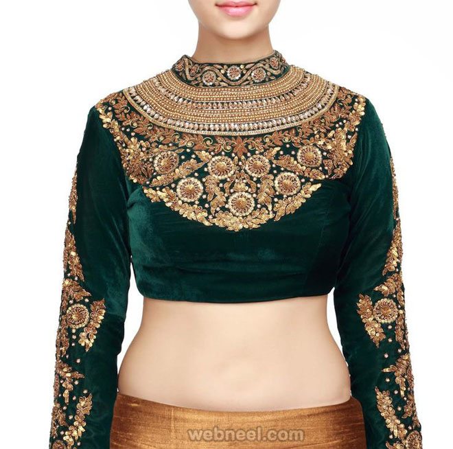 high neck blouse design