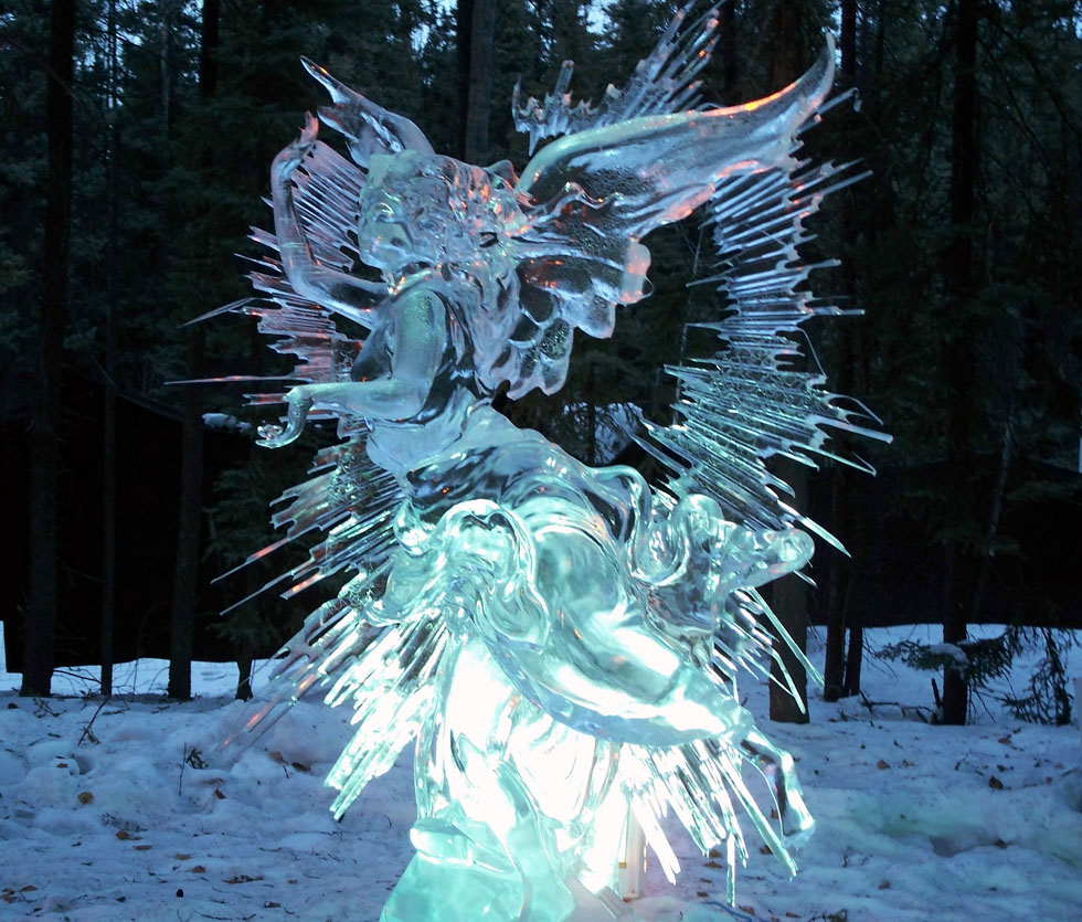 cupid ice sculpture