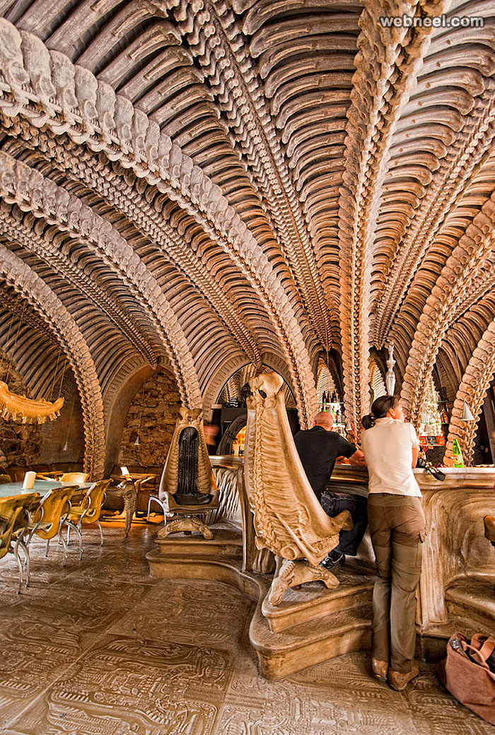 restaurant design giger bar switzerland