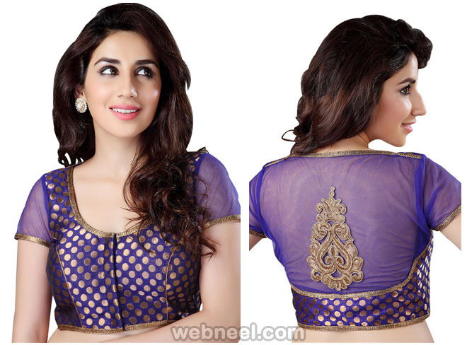 sheer sleeves blouse design